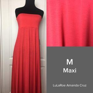 LuLaRoe Red Maxi Skirt